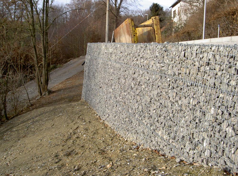 Gabionenwand in Raasdorf