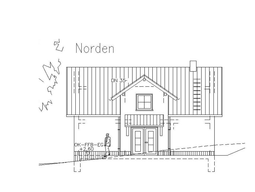 Ansicht Eigenheim, Bauvorlage