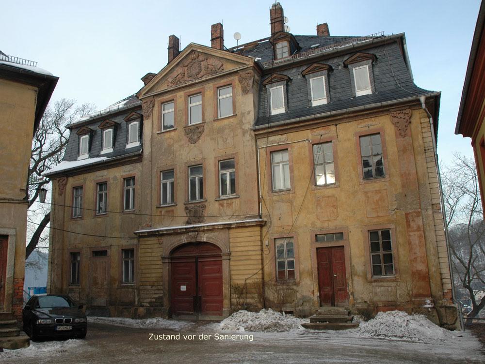 Oberes Schloss Haus 2 Greiz vor der Sanierung