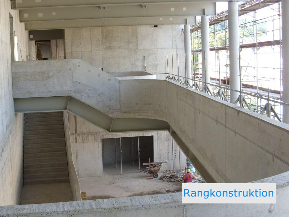 Vogtlandhalle Greiz, Baustatik Hochbau